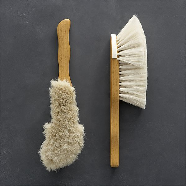 crate and barrelredecker-goat-hair-hand-brush